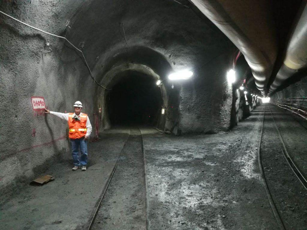 Punto de intersección del túnel de trasvase (Obrainsa-Astaldi) y ventana de acceso (Camargo Correa)